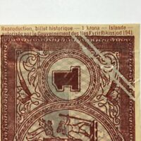 1944 47 ICELAND 1 KRONA PICK 22D HISTORICAL REPRODUCTION SEE PHOTOS