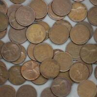 1953 S LINCOLN WHEAT CENT ROLL 50 CIRCULATED PENNIES US COINS