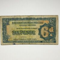 ND  1948 BRITISH ARMED FORCES 2ND SERIES SPECIAL VOUCHER 6 PENCE PIK M17A.
