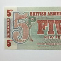 1972 BRITISH ARMED FORCES SPECIAL VOUCHER 5 NEW PENCE   6TH SERIES