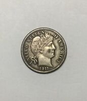 1911S  BARBER DIME COLLECTORS COIN PLEASING  SHARP MID GRADE GREAT FOR TYPE SET