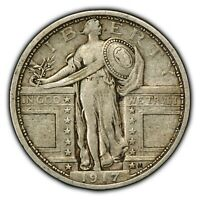 1917 TY-1 25C STANDING LIBERTY QUARTER - TYPE-1 - SKU-Z1014