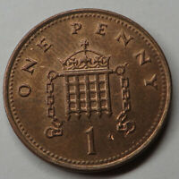 GREAT BRITAIN PENNY 2002 COPPER PLATED STEEL KM986 UNC