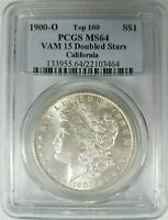 1900 O SILVER MORGAN DOLLAR PCGS MINT STATE 64 VAM 15 DOUBLED STARS CALIFORNIA COLLECTION