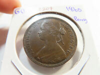 Z207 GREAT BRITAIN 1860 PENNY BENDED BORDER