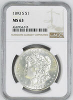 1893-S MORGAN S$1 NGC MINT STATE 63
