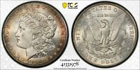 1902-S MORGAN SILVER DOLLAR PCGS MINT STATE 64 SOME RAINBOW TONING AT THE RIM