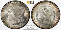 1898-S MORGAN SILVER DOLLAR PCGS MINT STATE 64 WHITE W/A TOUCH OF TONING AT THE RIM