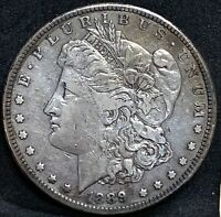 1889 CC MORGAN SILVER DOLLAR EXTRA FINE  DETAILS  KEY DATE CARSON CITY COIN