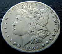 1889-CC SILVER MORGAN DOLLAR /  FINE / 1 OF THE TOP