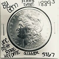 1889 S  BU GEM MORGAN SILVER DOLLAR UNC-MSU.S.MINT  KEY COIN5167