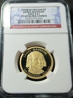 2007 S PROOF 4TH JAMES MADISON PRESIDENTIAL DOLLAR NGC PF 69