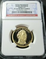 2008 S PROOF 5TH JAMES MONROE PRESIDENTIAL DOLLAR NGC PF 69
