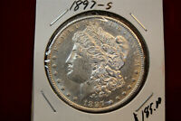 1897-S UNITED STATES MORGAN SILVER DOLLAR,  .77344 OUNCE OF SILVER, OLD DOLLAR