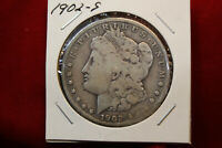 1902-S UNITED STATES MORGAN SILVER DOLLAR,  .77344 OUNCE OF SILVER, OLD DOLLAR