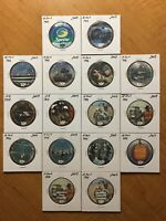 LARGE MIXED LOT OF 10 CENTS AAFES POGS 2009. TOTAL OF 16. UNCIRCULATED.