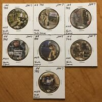 10TH PRINT SET OF 10 CENTS AAFES POGS 2007. TOTAL OF 7 POGS. UNCIRCULATED.