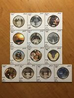 11TH PRINT SET OF 10 CENTS AAFES POGS 2008. TOTAL OF 13. UNCIRCULATED.