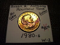 RAINBOW TONE GOLD & PURPLE COLORS 1980 S SUSAN B. ANTHONY DO