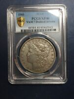 1901 MORGAN SILVER DOLLAR, PCGS, EXTRA FINE  40, TRUE VIEW, VAM HIT LIST