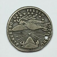 1837 MEXICO HOLED SILVER COIN