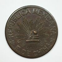 1915 MEXICO 5 CENTAVOS COIN CONSTITUTIONALIST ARMY AU KM 613