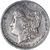 1898 S MORGAN SILVER DOLLAR EXTRA FINE OFF COLOR CLEANED SEE PICS G007