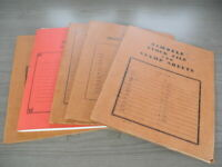 US 140 COMPLETE MINT NH OLD SHEETS OF STAMPS IN SHEET FILES