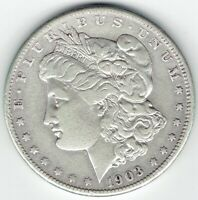 1903-S $1 MORGAN SILVER DOLLAR, KEY DATE, LIKELY CLEANED