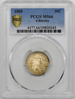 1805 DRAPED BUST 10C PCGS MINT STATE 66