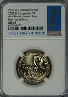 2020 D SACAGAWEA NATIVE DOLLAR NGC MS68 MS68 FIRST DAY OF IS