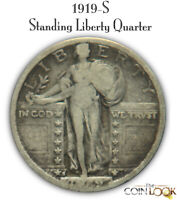 1919 S STANDING LIBERTY QUARTER TOUGH DATE. NICE EARLY SILVE