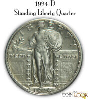 1924 D STANDING LIBERTY QUARTER TOUGH DATE. NICE EARLY SILVE
