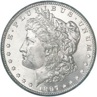 1897 S MORGAN SILVER DOLLAR BU US MINT COIN