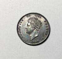 GREAT BRITAIN 1826  GEORGE IV SHILLING  LUSTROUS TONED NICE  GRADE PLEASING COIN