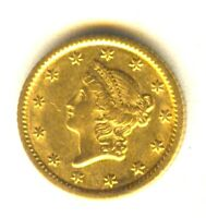 1853 O $1 GOLD AU   IN GRADE BETTER DATE ONE DOLLAR GOLD PIE