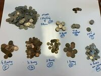 OLD GREAT BRITAIN COINS   MISCELLANEOUS COINS   LARGE LOT