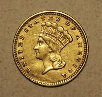 1861 $1 GOLD PIECE XF  NO RESERVE
