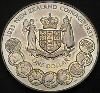 NEW ZEALAND 1 DOLLAR 1983   COINAGE ANNIVERSARY   AUNC   171