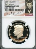 2021 S CLAD KENNEDY HALF DOLLAR EARLY RELEASES NGC PF70 ULTR