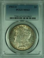 1902-O MORGAN SILVER DOLLAR S$1 PCGS MINT STATE 62 TONED  35