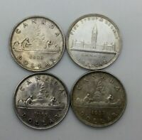 1935 1936 1937 &1939 GEORGE V&VI  SILVER $  LOT NICE FOUR LUSTROUS COINS 2