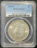 1904-O $1 MORGAN SILVER DOLLAR PCGS SLAB MINT STATE 64 GREAT COIN