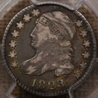 1823/2 JR 1 SMALL E'S CAPPED BUST DIME PCGS VF20 CAC  WOW  D