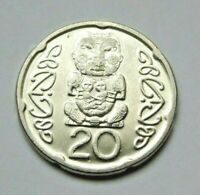 NEW ZEALAND 2006 MAORI CARVING 20 CENT COIN CIRCULATED