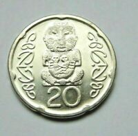 NEW ZEALAND 2008 MAORI CARVING 20 CENT COIN CIRCULATED