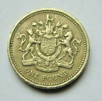 GREAT BRITAIN 1983 ROYAL ARMS ONE POUND COIN CIRCULATED