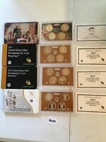 2010-2013 US MINT PRESIDENTIAL $1 COIN PROOF SETS 4 SETS WITH BOX AND COA'S