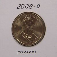 WILLIAM HENRY HARRISON 2008-D PRESIDENTIAL DOLLAR, UNCIRCULATED.