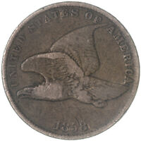 1858 FLYING EAGLE CENT SMALL LETTERS FINE PENNY FN SEE PICS G188